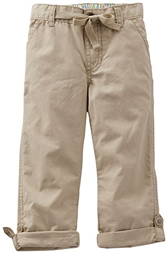 Carter'S Little Girls' Woven Pants (Toddler/Kid) - Khaki - 6 front-1074682