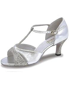 Roch Valley Lucina Standard Latein Tanzschuhe für Damen Silber 3 (36)