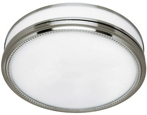 Hunter 83001 Ventilation Riazzi Bathroom Exhaust Fan with Light, Brushed Nickel