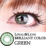 処方箋不要 ブリリアントカラー カラー コンタクト レンズ 度あり / 度なし 1箱1枚入 グリーン PWR±0.00(度なし) ランキングお取り寄せ