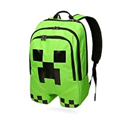 ThinkGeek Officially Licensed Minecraft Creeper Backpack 100% Polyester 11* 4.7*17.7 INCH
