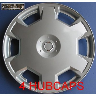 Aftermarket ABS Plastic Wheel Cover Nissan Versa Cube 15 Inch Silver Lacquer 4 Pack