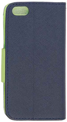 Cell Armor Hybrid Novelty Case for iPhone 5 - Retail Packaging - Dark Blue and Green Diary Case
