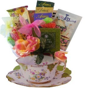 Tea Time Tea Cup Shaped Gift Basket by Art of Appreciation Gift Baskets