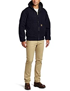 Carhartt Big & Tall Sandstone Flannel-Lined Active Jacket