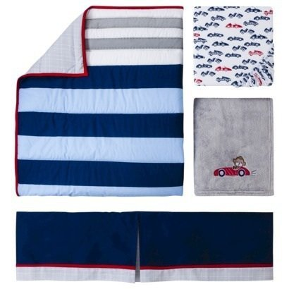 Navy And Grey Bedding 6977 front