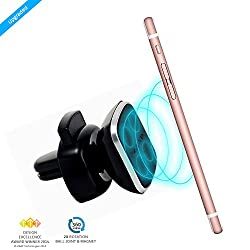 ZAAP® (USA) MAGNETIC TOUCH ONE Premium Car Mount/Desk Mount/Air vent Mount/Car mobile holder [Award winning]. Universal compatible for Smartphones with 360 degree rotation & fully adjustable view. Perfect for Cars & desks. Mobile holder (Black, Car accessories)