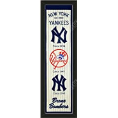 Heritage Banner Of New York Yankees-Framed Awesome & Beautiful-Must For A... by Art and More, Davenport, IA