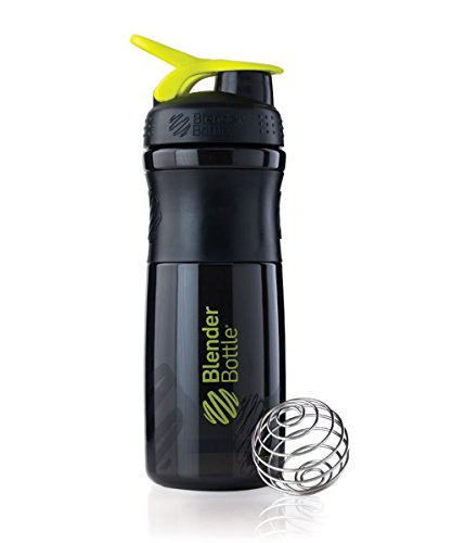 BlenderBottle SportMixer Tritan Grip Shaker Bottle, Black/Green, 28-Ounce (Mixing Sports Bottle compare prices)