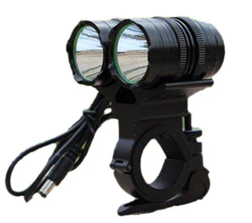 2 Head 4 Mode 1600 Lumen 2 X Cree Xm-L T6 Bulb Super Bright Led Bicycle Waterproof Bike Headlight Lamp Headlamp Flashing Flashlight(Battery Not Included)