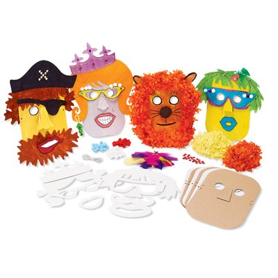 MindWare Make Your Own Mask Kit. Creative Arts and Crafts Fun for Ages 5 to 8 - 1