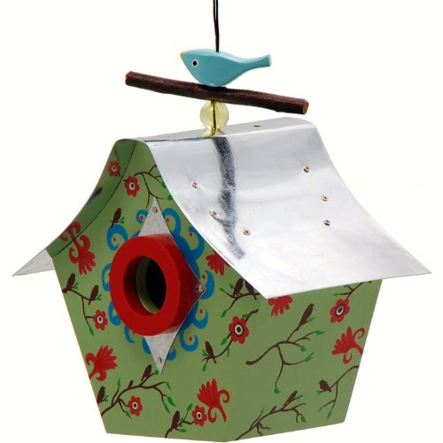 Rosso's International Fall Blossoms Retro Chic Birdhouse