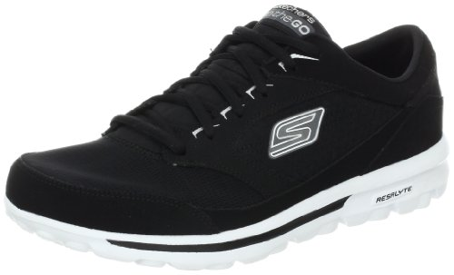 Skechers on the GOÂ Rookie Trainers Men black Schwarz (BKW) Size: 10 (44 EU)