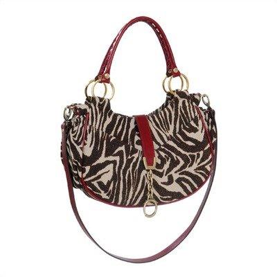 Alisa Diaper Bag In Gold Zebra front-272645