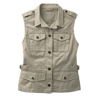 Plus Size Women S Bush Poplin Safari Vest Khaki 3x At Amazon Women S Coats Shop