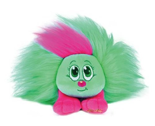 "Shnooks Plush Friend Toy, ""Nookoo"" Teal & Pink, with Hair Accessories - 1"