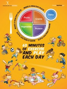 """My Plate Kids Activity Poster 18"""" X 24"""" Laminated"""