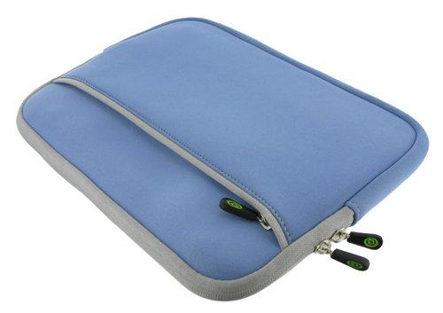 Blue DualPocket Neoprene Sleeve Case for Apple iPad 16GB (iPad NOT Included)