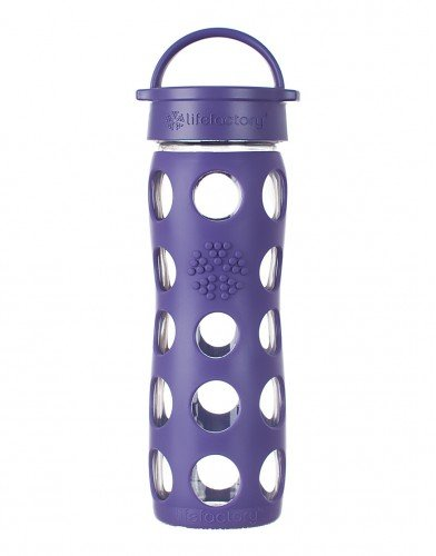 Lifefactory 16 Ounce Glass Beverage Bottle Royal Purple