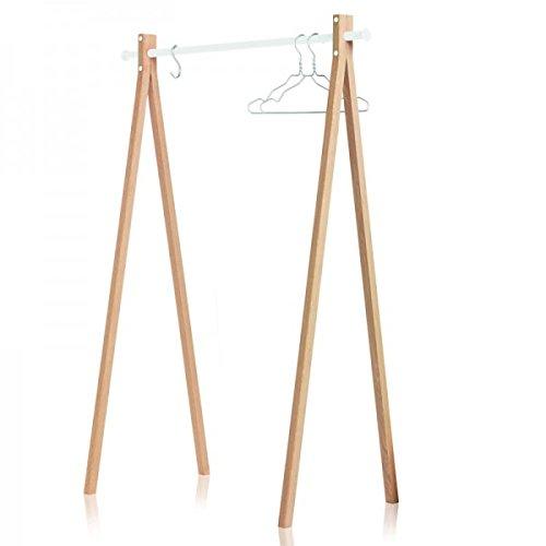 Portant en bois Nomess - Blanc 120 cm