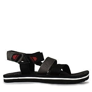 Adreno Men's S-107 Black Sandals