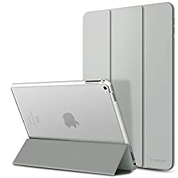 iPad Pro 9.7 Case - MoKo Ultra Slim Lightweight Smart-shell Stand Cover with Translucent Frosted Back Protector for Apple iPad Pro 9.7 Inch 2016 Release Tablet, SILVER (with Auto Wake / Sleep)