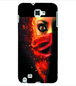 ColourCraft Evil Eye Back Case Cover for SAMSUNG GALAXY NOTE 1