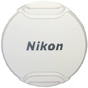 Nikon LC-N55 Black Front Lens Cap for Nikkor 10-100mm f/4.0-5.6 VR Lens, White