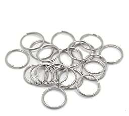 300PCs Silver Tone Split Rings Findings 14mm(5/8\