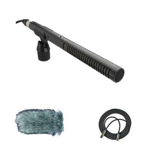 Rode Ntg2 Condenser Shotgun Microphone With Rode Deadcat Wind Muff Microphone Cover And Cad 25Ft Xlr Cable