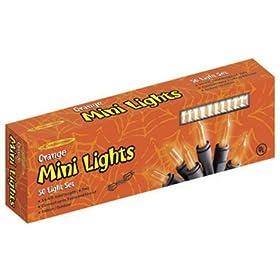 Mini Orange Halloween Lights