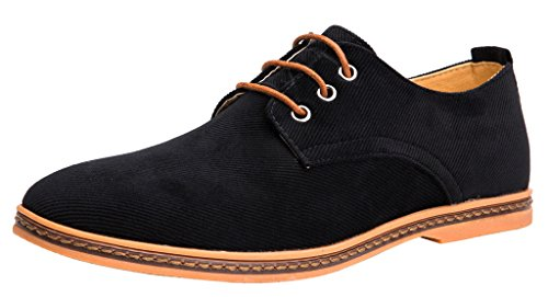 4how-mens-casual-oxford-corduroy-shoes-lace-up-footwear-black-us-105