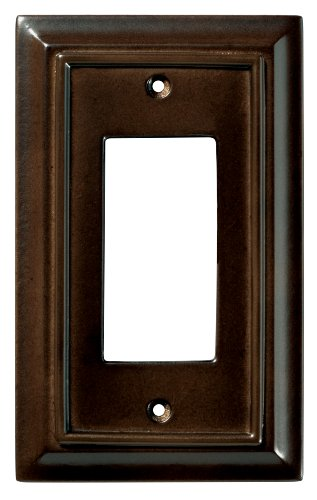 BRAINERD 126341 Wood Architectural Single Decorator Switch Wall Plate / Switch Plate / Cover, Espresso (Espresso Wall Plate compare prices)