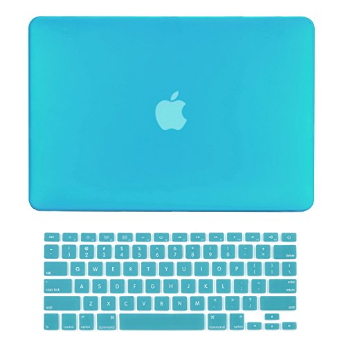 TopCase 2-in-1 Macbook Pro 15-Inch A1398 with Retina Display AQUA BLUE Rubberized Hard Case Cover and Keyboard Cover (LATEST VERSION / No DVD Drive / Release June 2012)+ TopCase Mouse Pad (Macbook Pro Retina Display 15 compare prices)
