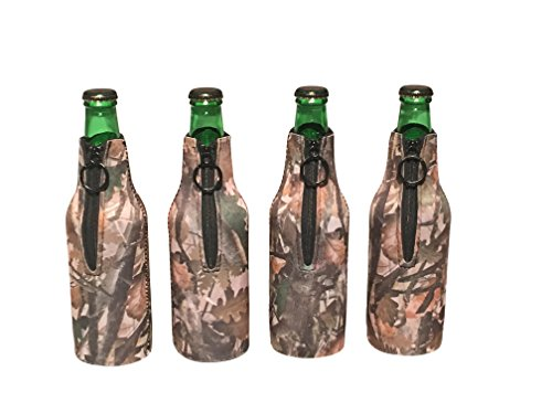 Koozie Beer Bottle Koozies Neoprene Collapsible Set of 4 Camo Coozies