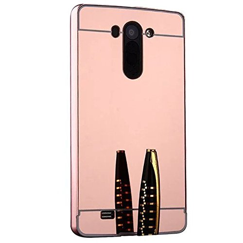 LG G3 Vigor/G3 Mini/G3 Beat Case, Ranyi [Mirror Series] Aluminum Metal Bumper Detachable + Bling Mirror Hard Back Cover [Thin Fit & Slim] Case for LG G3 Vigor/G3 Mini/G3 Beat/G3s D725 D722, rose gold (Lg G3 Beat Gold compare prices)
