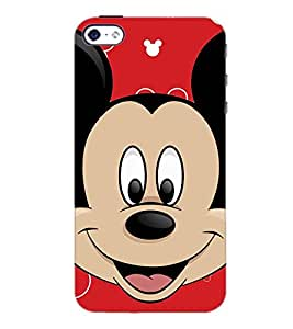 PrintDhaba Mickey Mouse D-2318 Back Case Cover for APPLE IPHONE 5S (Multi-Coloured)