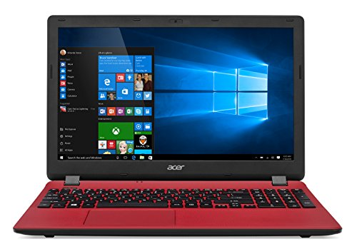 Acer 156 inches notebook es1 571 intel celeron 2957u 4 gb 1 tb hdd windows 10 red