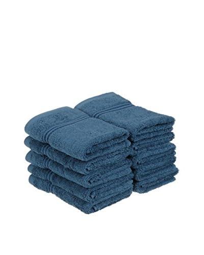 Superior 10-Piece 600 GSM Egyptian Cotton Face Towel Set, Sapphire