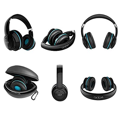 Arion Legacy Extreme Clarity Headphone with ANC and 40mm Neodymium Acoustic Drivers for Music, PC, Gaming, Smartphone and Tablet (Deep Sonar 1 Black)