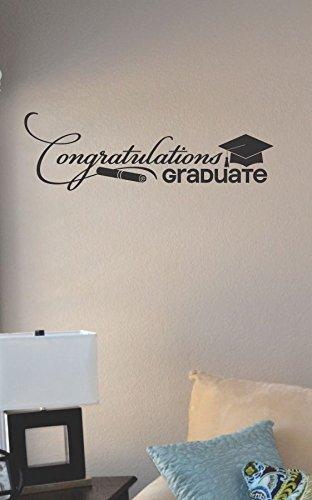 Congratulations Graduate Vinyl Wall Art Decal Sticker front-816362