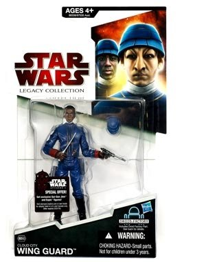 41n764Ck1DL Cheap  Star Wars 2009 Legacy Collection BuildADroid Action Figure Bespin Wing Guard