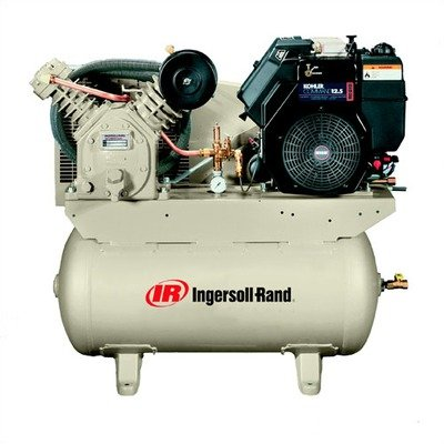 Ingersoll rand 2475f14g 30 gallon gas powered air for Air compressor gas motor