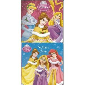 Disney Princess 2 Board Book Set (Christmas Ball & Wintry Days)