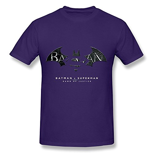 HUBA Men's T Shirt Superman Vs Batman Purple Size S
