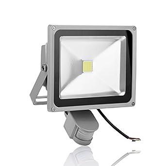25W LED Fluter Flutlicht Hofbeleuchtung Solar Leuchte Lichtsensor Kaltweiß IP67