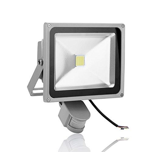 30W Hot Cool White Induction Lamp 240V Led Pir Motion Sensor Flood Light Ip65