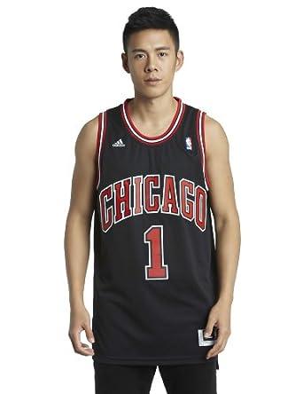 Buy NBA Chicago Bulls Derrick Rose Black Swingman Jersey by adidas