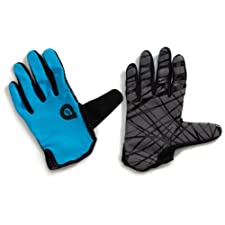 SixSixOne Rev Gloves (Cyan, Large)