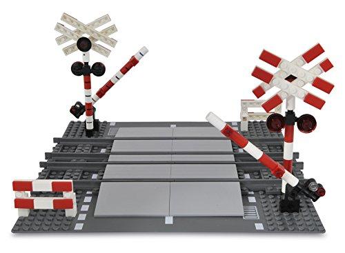 107936-2 Bahnübergang Doppelspur wie LEGO 7936